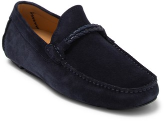 Magnanni Suede Braided Loafer