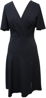 Sandra Darren Flutter Sleeve Scuba Dress