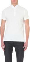 Tommy Hilfiger mandarin collar cotton-piqué polo shirt