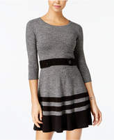 BCX Juniors' Marled Stripe Sweater Dress