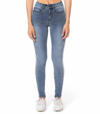 Lola Jeans High-Rise Skinny Jeans With Stripe Detail - Alexa