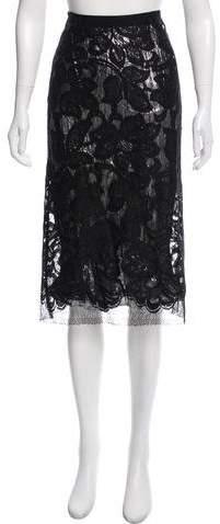 Tome Metallic Lace Skirt