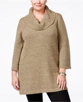 Karen Scott Plus Size Cowl-Neck Tunic, Only at Macy's