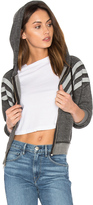 Wildfox Couture Burnout Fleece Tri Stripe Hoodie