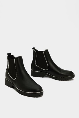 Nasty Gal Womens In It to Pin It Chelsea Boot - Black