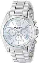 Akribos XXIV Women's AK693SS Ultimate Swiss Quartz Multifunction Silver-tone Bracelet Watch