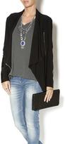 Joseph Ribkoff Zip Leather Patch Jacket