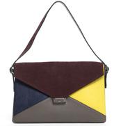 Celine Multi-Color Pony Hair Diamond Clutch Bag