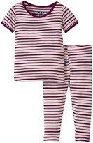 Kickee Pants Printed Pajama Set (Baby) - Animal Stripe - 0-3 Months