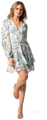 Forever New Mae Long Sleeve Ruffle Mini Dress