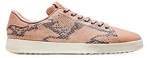 Cole Haan Women's GrandPro Snakeskin-Embossed Leather Sneakers