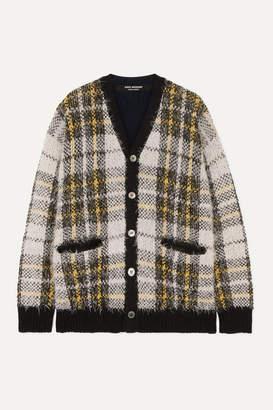 Junya Watanabe Oversized Checked Wool-blend Cardigan - White