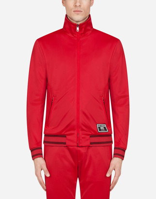 Dolce & Gabbana Zip-Up Sweater With Patch