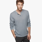 James Perse Cotton Cashmere Thermal Henley