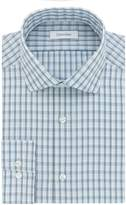 Calvin Klein Men's Non Iron Slim Fit Arrow Print Spread Collar Dress Shirt
