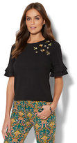 New York & Co. 7th Avenue - Sequin Ruffle-Sleeve Top