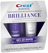 Crest 3D White Brilliance Daily Cleansing Toothpaste and Whitening Gel System - 1 Tube 4.0 oz and 1 Tube 2.3 oz
