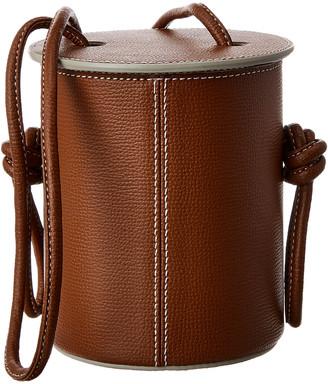 Yuzefi Cubito Mini Leather Bucket Bag