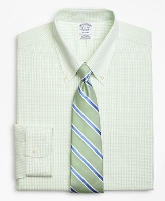 Brooks Brothers Regent Fitted Dress Shirt, Non-Iron Double-Mini Windowpane