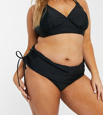 Junarose mix and match 2 way bikini bottoms in black