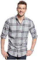 John Ashford Mens Plaid Flannel Button Up Shirt