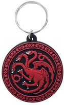 Game Of Thrones Keyring Keychain House Targaryen Official New Rubber Circular