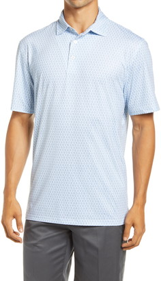 Southern Tide Driver Diamond Print Regular Fit Performance Polo
