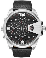 Diesel 'Uber Chief' Chronograph Leather Strap Watch, 55mm