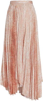 Acler Hooper Pleated Snake Print Skirt