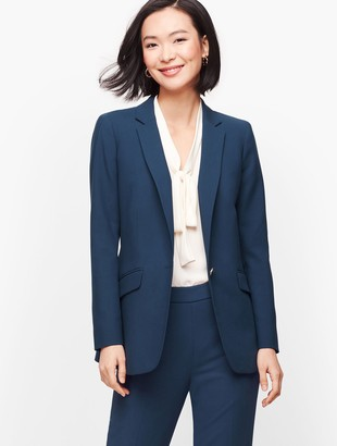 Talbots Luxe Double Weave Single Button Blazer