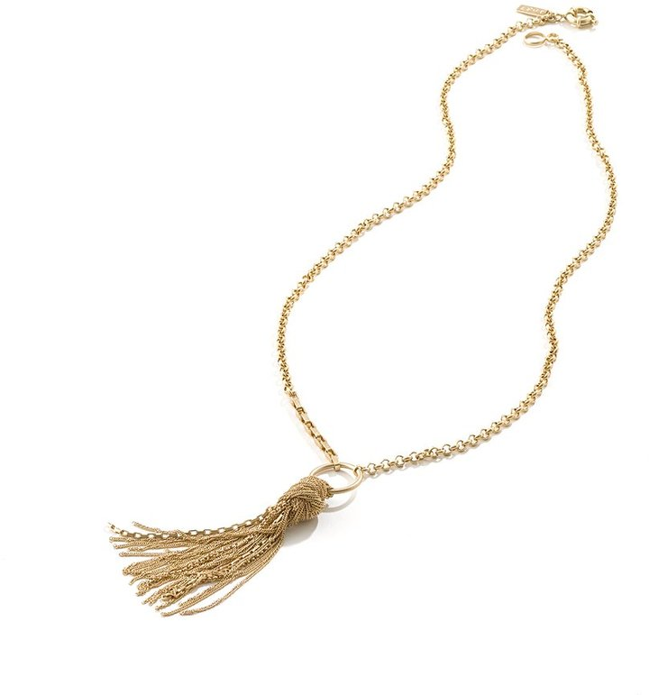 Madewell Knotted tassel necklace