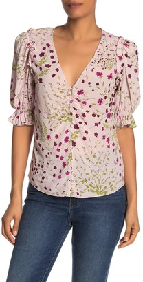 Joie Anevy Floral Silk Blouse