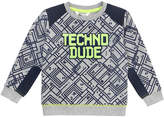 Petit Lem Long-Sleeve Techno Dude Printed T-Shirt, Size 2-6X