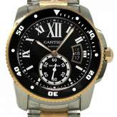 Cartier Calibre Black gold and steel Watches