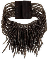 Brunello Cucinelli Multistrand Beaded Smoky Quartz Choker Necklace w/ Tags