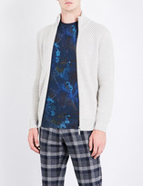 Etro Zip-up cable-knit wool jacket