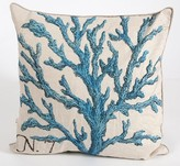 The Well Appointed House Blue Coral Linen Pillow