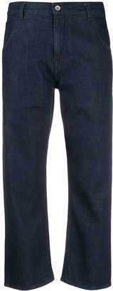 YMC Cropped Straight-Leg Jeans