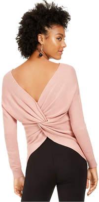 Bar III Wear 2 Ways Twist Sweater