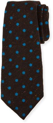 Kiton Men's Dotted Wool-Blend Tie