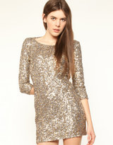 The Cassette Society Forevermore Sequin Backless Dress
