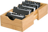 Lipper Bamboo Expandable Business Card Holder