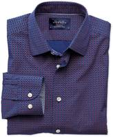 Classic Fit Blue And Pink Pentagon Print Cotton Shirt Single Cuff Size Large By Charles Tyrwhitt