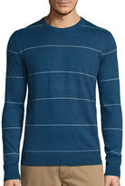 ST. JOHN'S BAY St. John's Bay Long-Sleeve Striped Fine-Gauge Crewneck Sweater