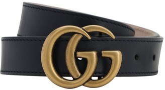 Gucci Logo Leather Belt