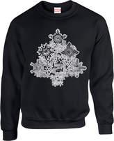 Marvel Comics Shields Christmas Tree Black Christmas Sweatshirt