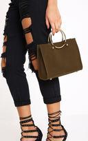 PrettyLittleThing Khaki Ring Handbag