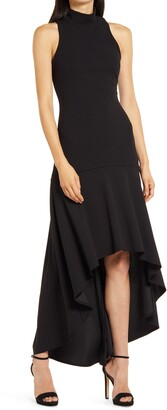 Lulus Day of Love Mock Neck High/Low Dress