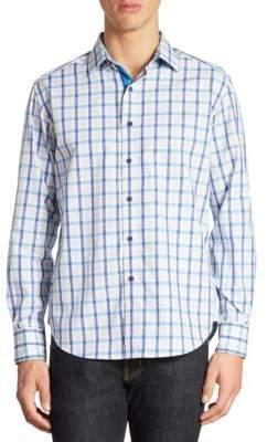 Robert Graham Hollister Plaid Cotton Shirt