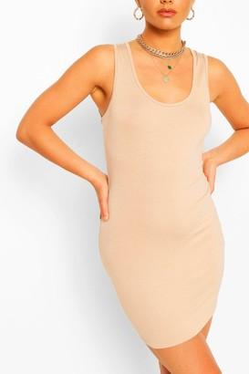 boohoo Scoop Neck Sleeveless Bodycon Dress